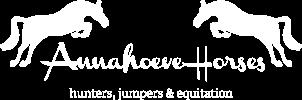 Annahoeve Horses logo wit